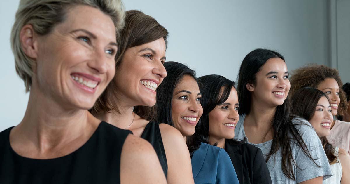 Large group of multi-ethnic women