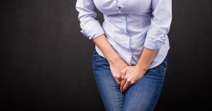 A woman experiencing pelvic pain